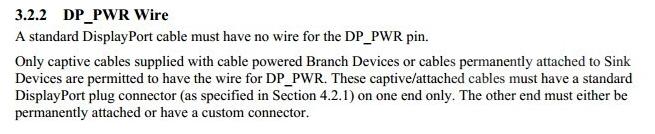 DP线第20针脚DP_PWR的重要性