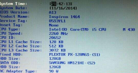Dell 1464光驱位硬盘的怪异识别过程(主硬盘安装SSD)